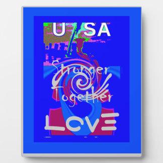 Hillary USA President Stronger Together spirit Plaque