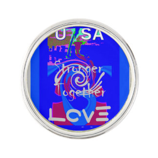 Hillary USA stronger together Lapel Pin