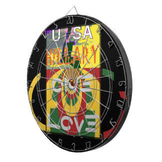 Hillary USA  Stronger Together Vote One Love For H Dartboard