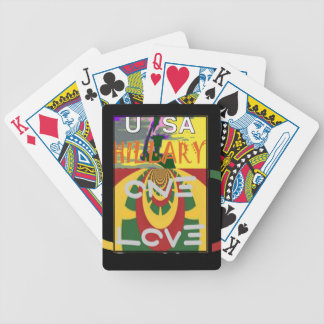Hillary USA  Stronger Together Vote One Love For H Poker Deck
