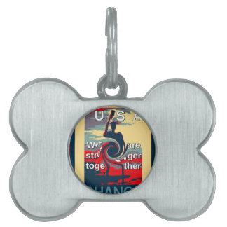 Hillary USA we are stronger together Pet ID Tags