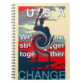 Hillary USA we are stronger together Spiral Notebooks