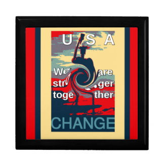 Hillary USA we are stronger together Trinket Box