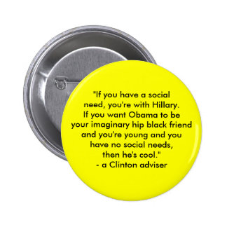Hillary vs. Obama 2 Inch Round Button