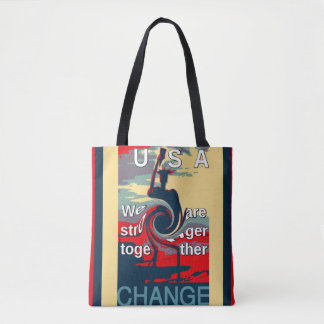 Hillary we are stronger together tote bag