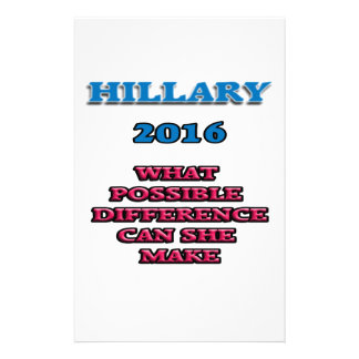 HILLARY WHAT DIFFERENCE STATIONERY