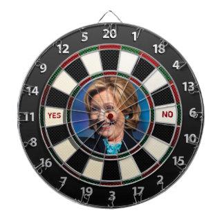 Hillary YES or NO Dart Board