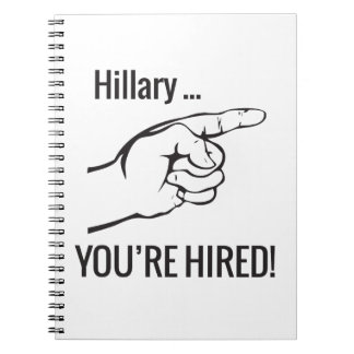 Hillary ... You're Hired Notebook
