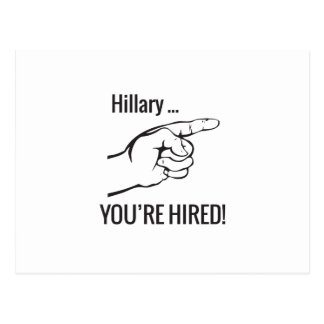 Hillary ... You're Hired Postcard