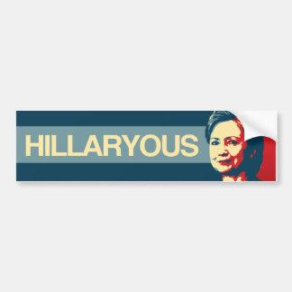 Hillaryous - Anti-Hillary Propaganda - -  Bumper Sticker