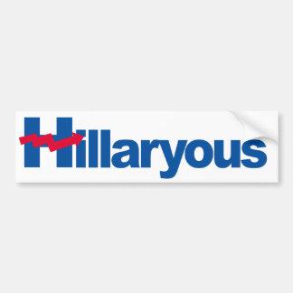 Hillaryous - Crooked H - -  Bumper Sticker