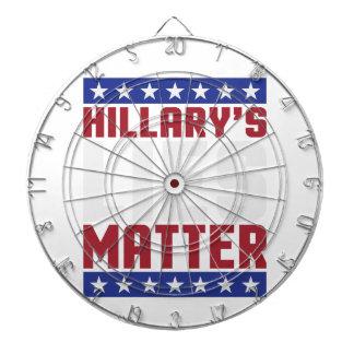 Hillary's Lies Matter Dart Board