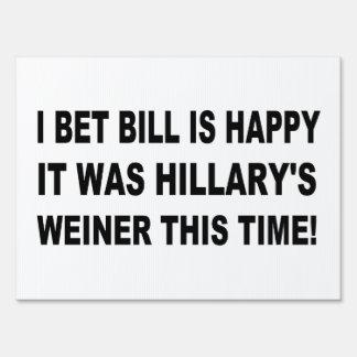 Hillary's Weiner Yard Sign