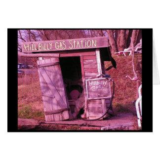 Hillbilly Gas Station Card
