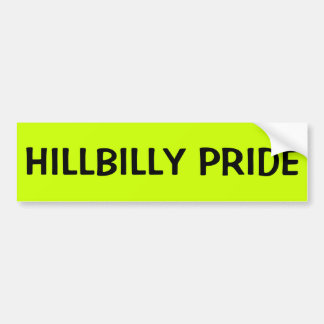 HILLBILLY PRIDE BUMPER STICKER