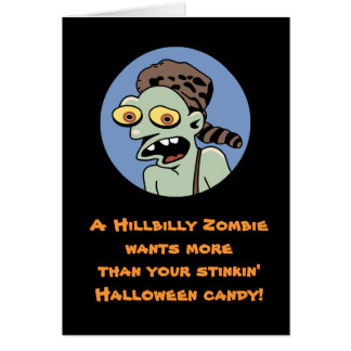 Hillbilly Zombie Halloween Card