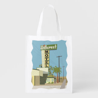 Hillcrest Motel on Route 66 Reusable Grocery Bag