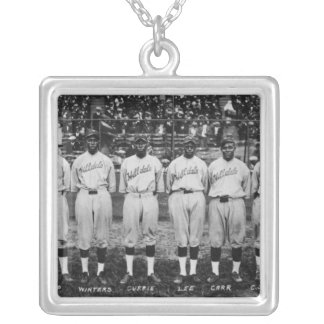 Hilldale Club baseball team Colored World Series Silver Plated Necklace