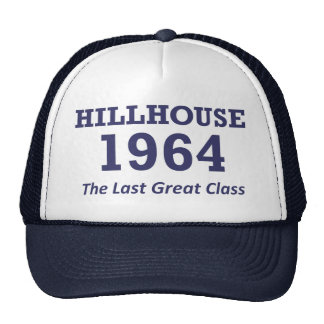 "Hillhouse '64 ""trucker's cap"" -- many colors trucker hat"