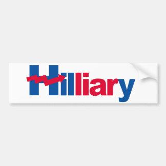Hilliary - Crooked H - -  Bumper Sticker