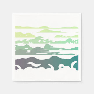 Hills Above the Clouds Landscape Disposable Napkin