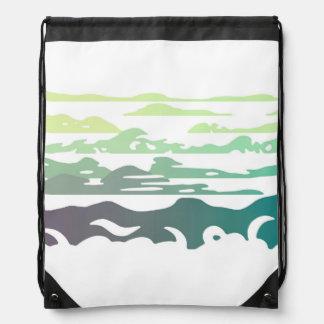Hills Above the Clouds Landscape Drawstring Bag