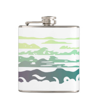 Hills Above the Clouds Landscape Hip Flask