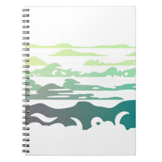 Hills Above the Clouds Landscape Notebook