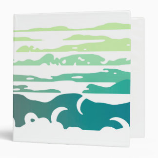 Hills Above the Clouds Landscape Vinyl Binder