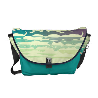 Hills Above the Clouds Landscape - yellow-green Messenger Bag