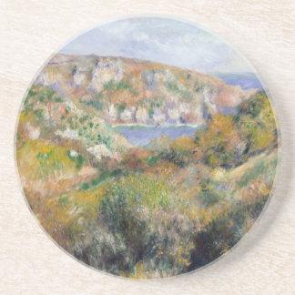 Hills around the Bay of Moulin Huet - Renoir Coaster