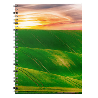 Hills countryside sky rural notebook
