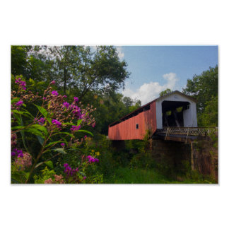 Hills Covered Bridge, Ohio Poster