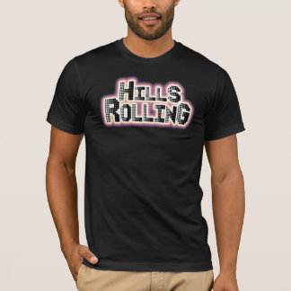 Hills Rolling - Black T-Shirt with Dots Design