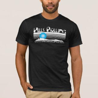 Hills Rolling - Black T-Shirt with Sunset Design
