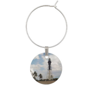 Hillsboro Inlet Light Tower Wine Charm