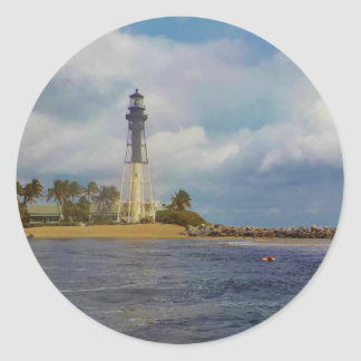 Hillsboro Inlet Lighthouse Classic Round Sticker