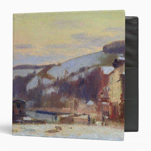Hillside at Croisset under snow Vinyl Binders