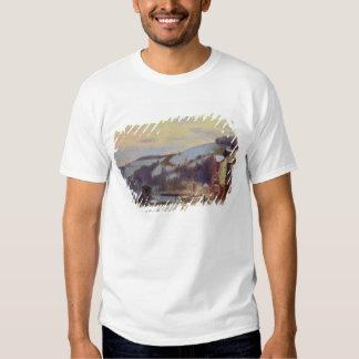 Hillside at Croisset under snow T-shirt