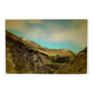 Hillside Cliffs Poster