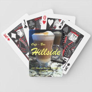 Hillside coffee bar bicycle poker deck