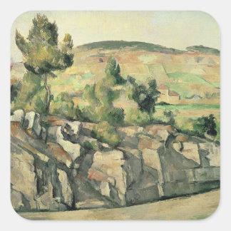 Hillside in Provence, c.1886-90 Square Sticker