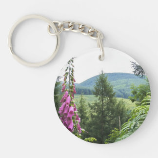 Hillside Double-Sided Round Acrylic Keychain