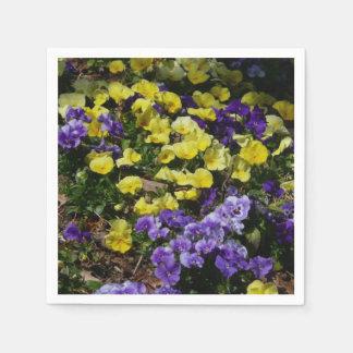 Hillside of Purple and Yellow Pansies Napkin