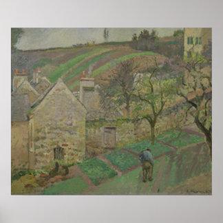 Hillside of the Hermitage, Pontoise, 1873 Poster