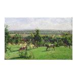 Hillside of Vesinet, Yvelines, 1871 Canvas Print