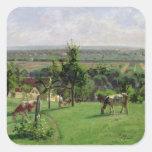 Hillside of Vesinet, Yvelines, 1871 Square Sticker