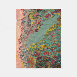 Hillside Painting Fleece Blanket