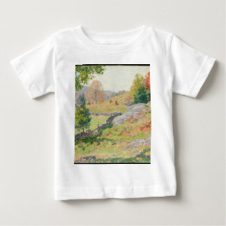 Hillside Pasture in September - Willard Metcalf Baby T-Shirt