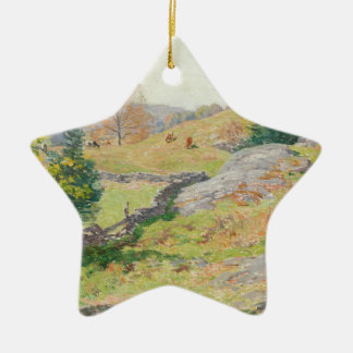 Hillside Pasture in September - Willard Metcalf Ceramic Ornament